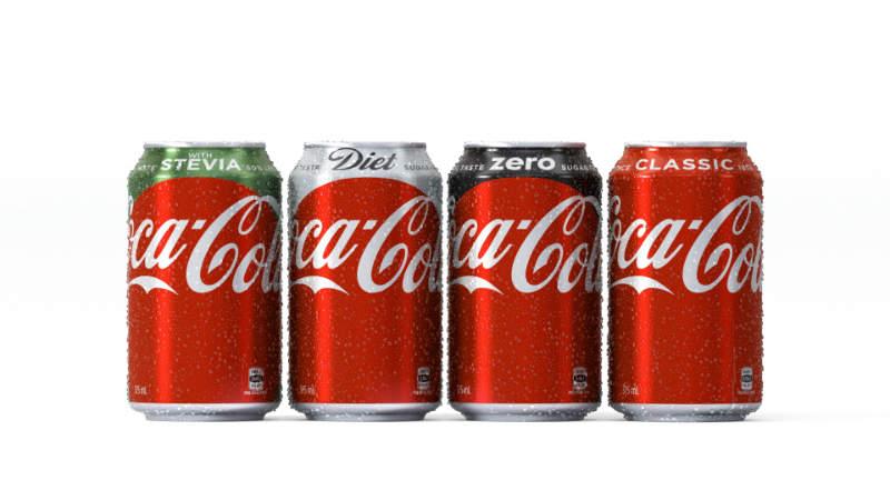 coca-cola brands cans coke