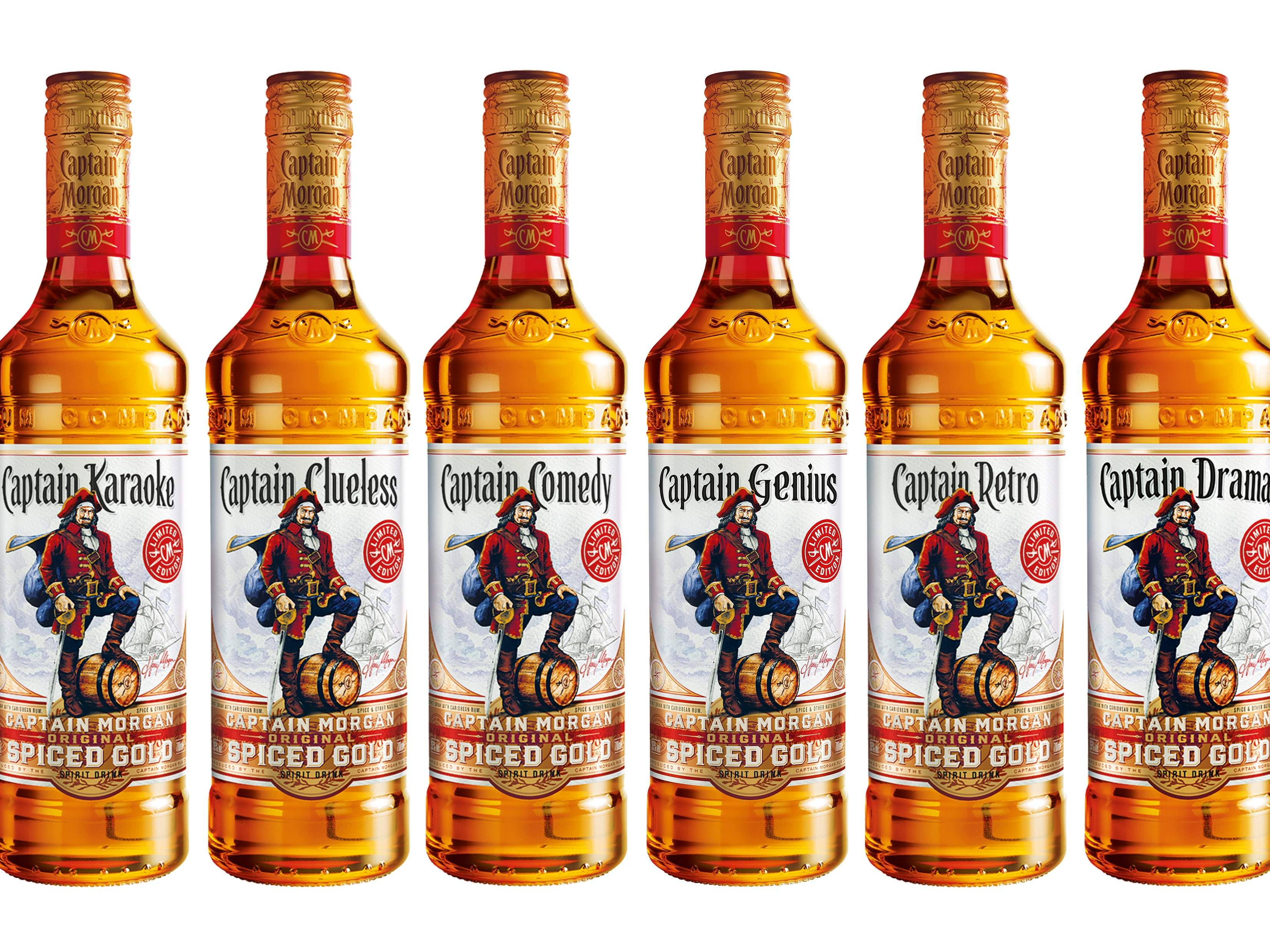 Captain Morgan Replaces Its Name On Limited Edition Bottles
