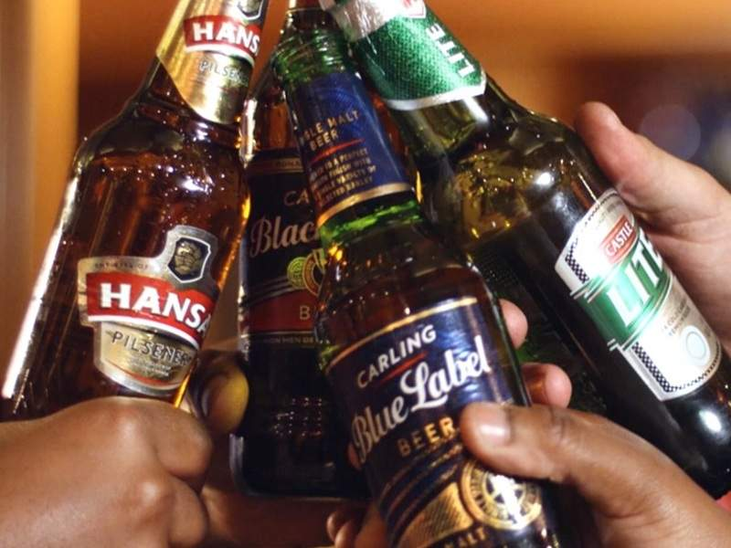 SAB's Ibhayi brewery produces 1l Castle Lager glass bottles. Image courtesy of The South African Breweries.