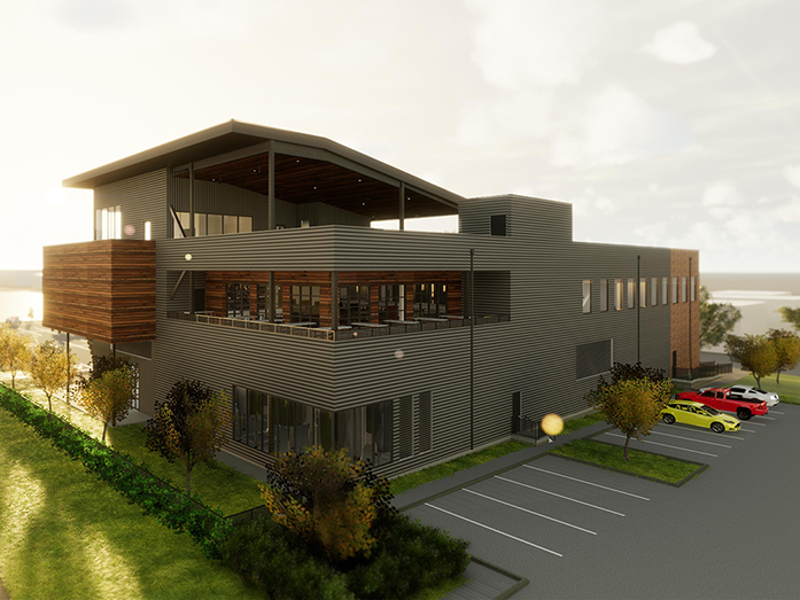 Buffalo Bayou Brewing broke ground on a new brewery-cum-restaurant in September 2018. Image courtesy of Buffalo Bayou Brewing/Method Architecture.