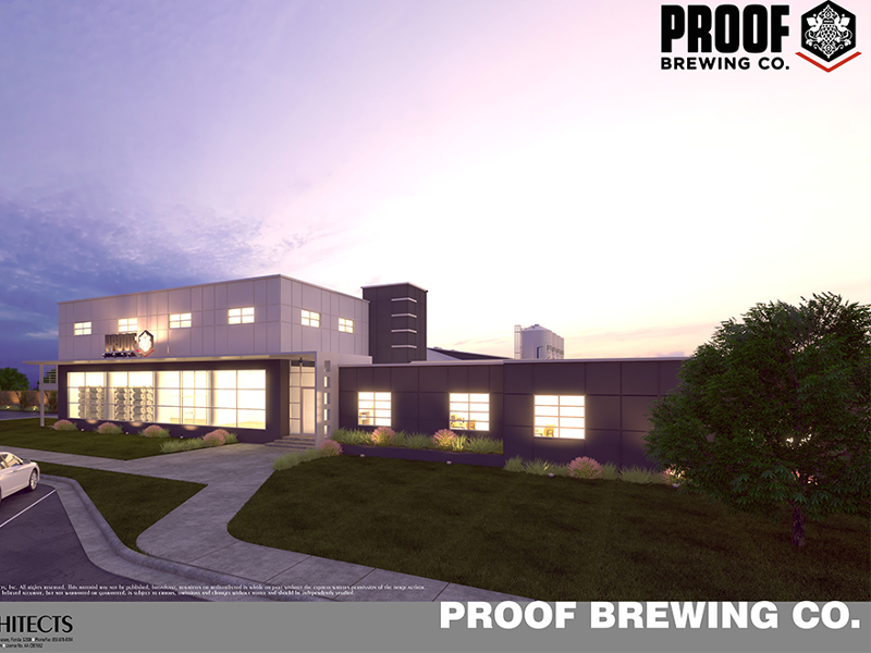 Proof Brewing will open its new facility in Tallahassee in January 2019. Image courtesy of Proof Brewing/Conn Architects.
