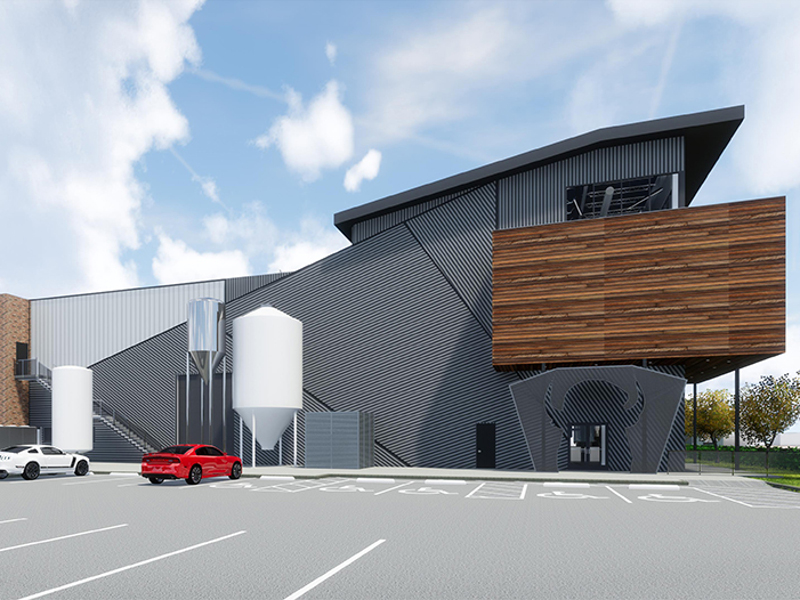 The new brewery and restaurant will cover an area of 28,000ft². Image courtesy of Buffalo Bayou Brewing/Method Architecture.