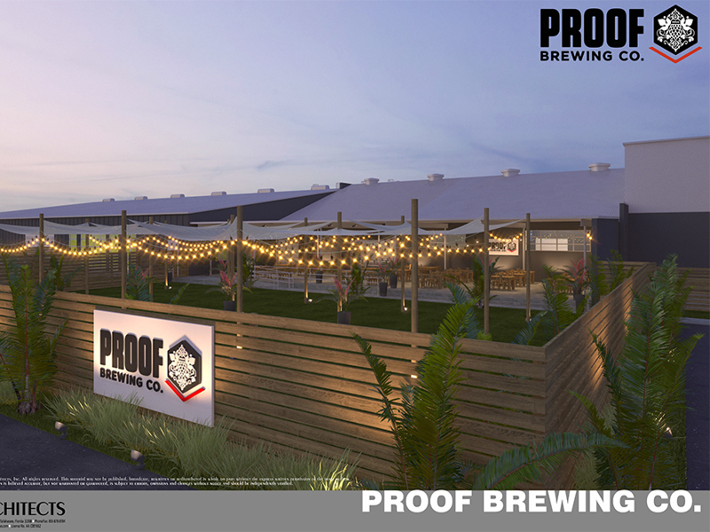 The project will include renovation of a 70-year old building. Image courtesy of Proof Brewing/Conn Architects.