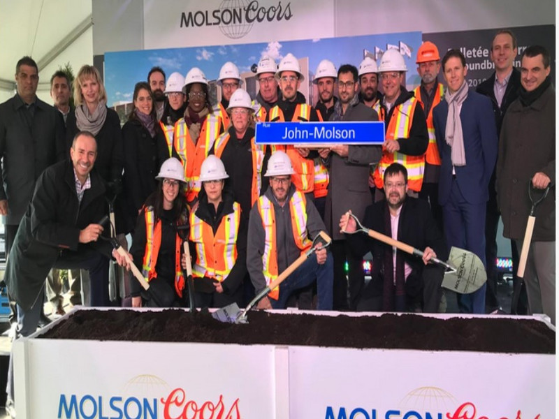 Molson Coors is developing a new modern brewery and distribution centre in Longueuil, Canada. Image courtesy of Pomerleau.