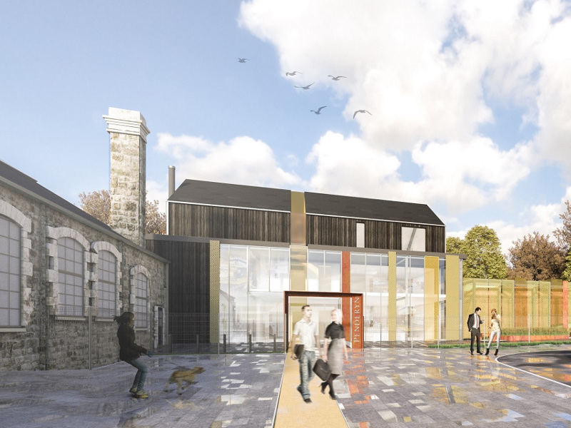 Penderyn's new distillery and visitor centre are scheduled for completion by 2021. Image courtesy of Penderyn Distillery.