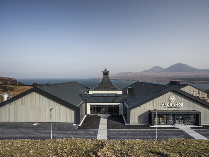Ardnahoe distillery and visitor centre was opened in April 2019. Image courtesy of Ardnahoe Distillery.