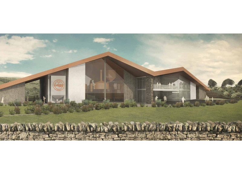 Lagg distillery and visitor centre is expected to be opened in 2019. Image courtesy of Isle of Arran Distillery.