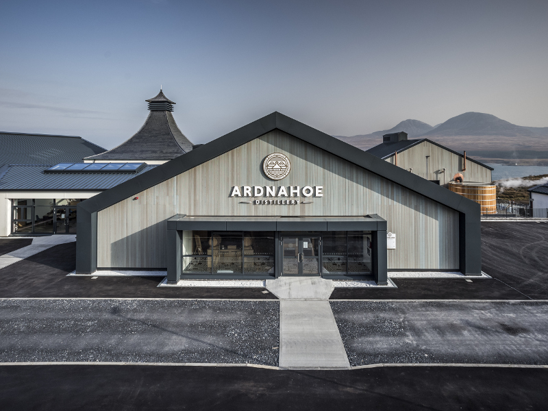 The Ardnahoe distillery is the ninth distillery to be built in the Isle of Islay. Image courtesy of Ardnahoe Distillery.