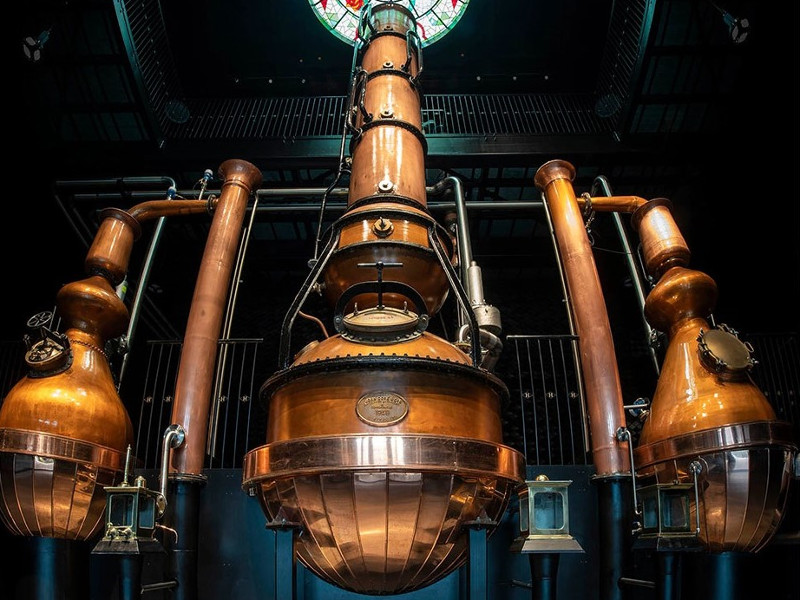 The distillery is equipped with six stills. Image courtesy of MLA.