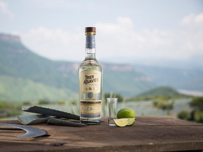Tres Agaves' Tequila was named among Wine Enthusiast's top 100 spirits list of 2018. Image courtesy of Tres Agaves Products, LLC.