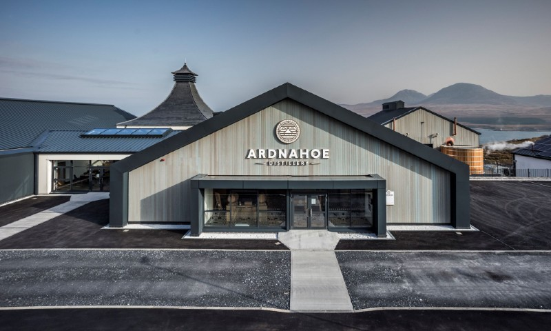 Ardnahoe distillery features a retail area, visitor centre and a bar. Credit: Ardnahoe Distillery.