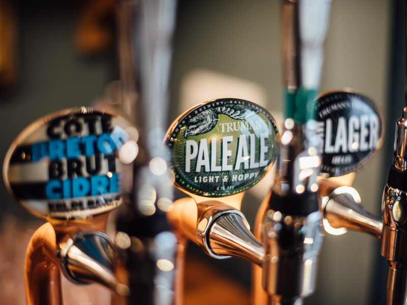 Truman's popular drinks include pale ale and raw lager, among others. Image courtesy of Black Eagle Brewery.