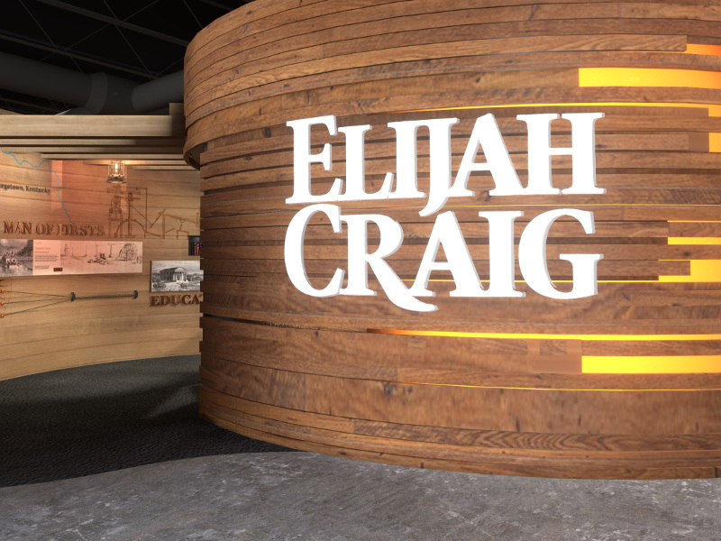 The visitors will be explained about the process of flavour development of whiskey in the Elijah Craig Exhibit of the distillery. Credit: Heaven Hill Brands.