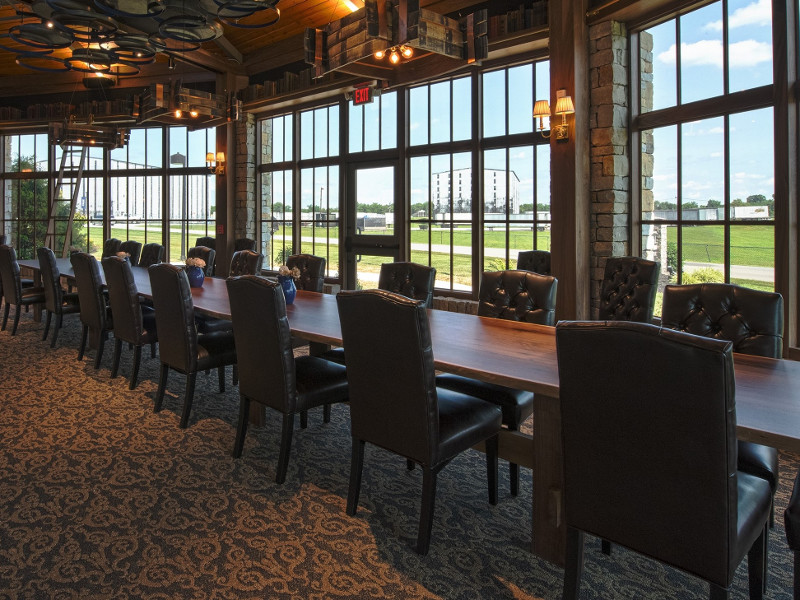 The Library tasting room will offer a premium view of the Heaven Hill rick houses. Credit: Heaven Hill Brands.