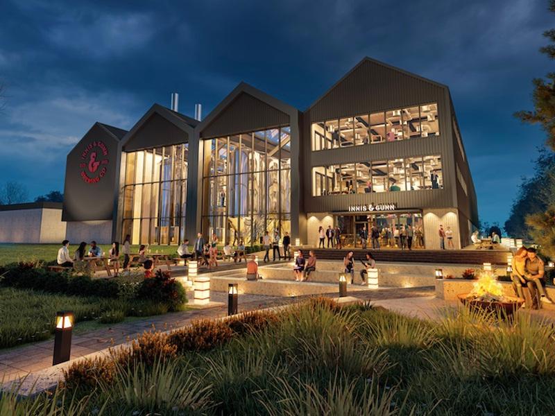 Innis & Gunn's new brewery will contribute to the brand's product portfolio. Credit: Heriot Watt University.