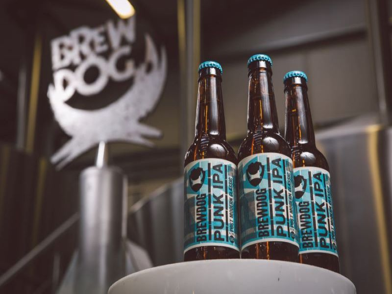 The new brewery features an initial line-up of 28 taps. Credit: BrewDog.