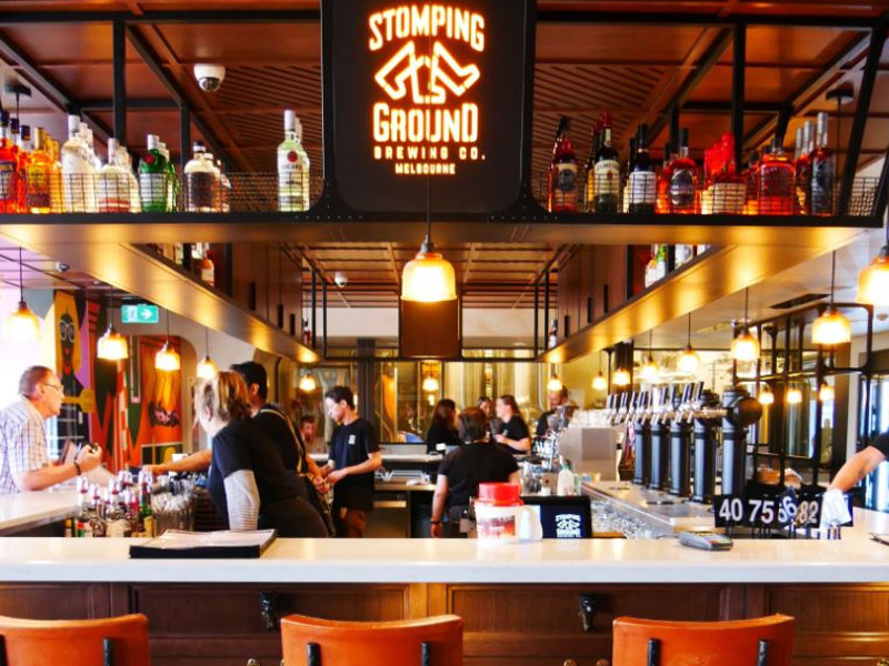 Stomping Ground's new brewery is located in Terminal 3 at Melbourne Airport. Credit: Delaware North Companies, Inc.
