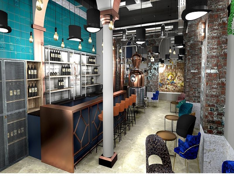 The new distillery and bar is located in the Market Buildings in Maidstone. Credit: Maidstone Distillery.