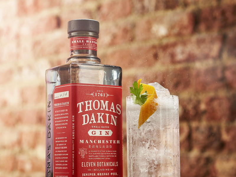 Thomas Dakin gin is a handcrafted small batch gin. Credit: Quintessential Brands Group.