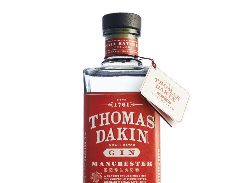 Thomas Dakin won the title of the Best British London Dry Gin in The Gin Masters in 2018. Credit: Quintessential Brands Group.