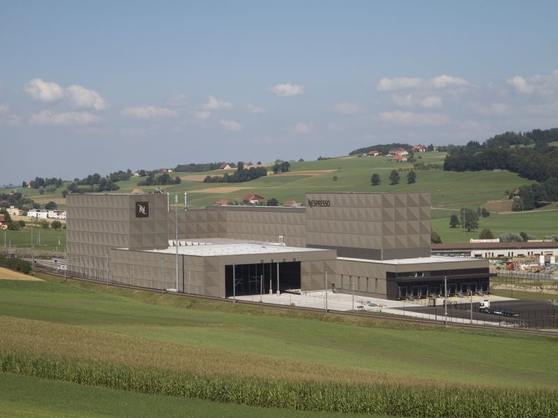 The Romont production facility expansion is expected to be completed in June 2022. Credit: PRNewsfoto / Nespresso.