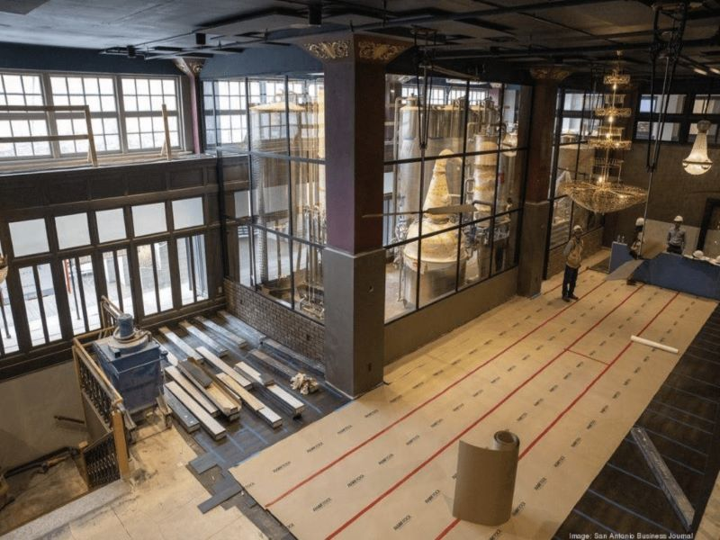 The distillery will be situated at the basement and first floor of the Burns building. Credit: San Antonio Business Journal.