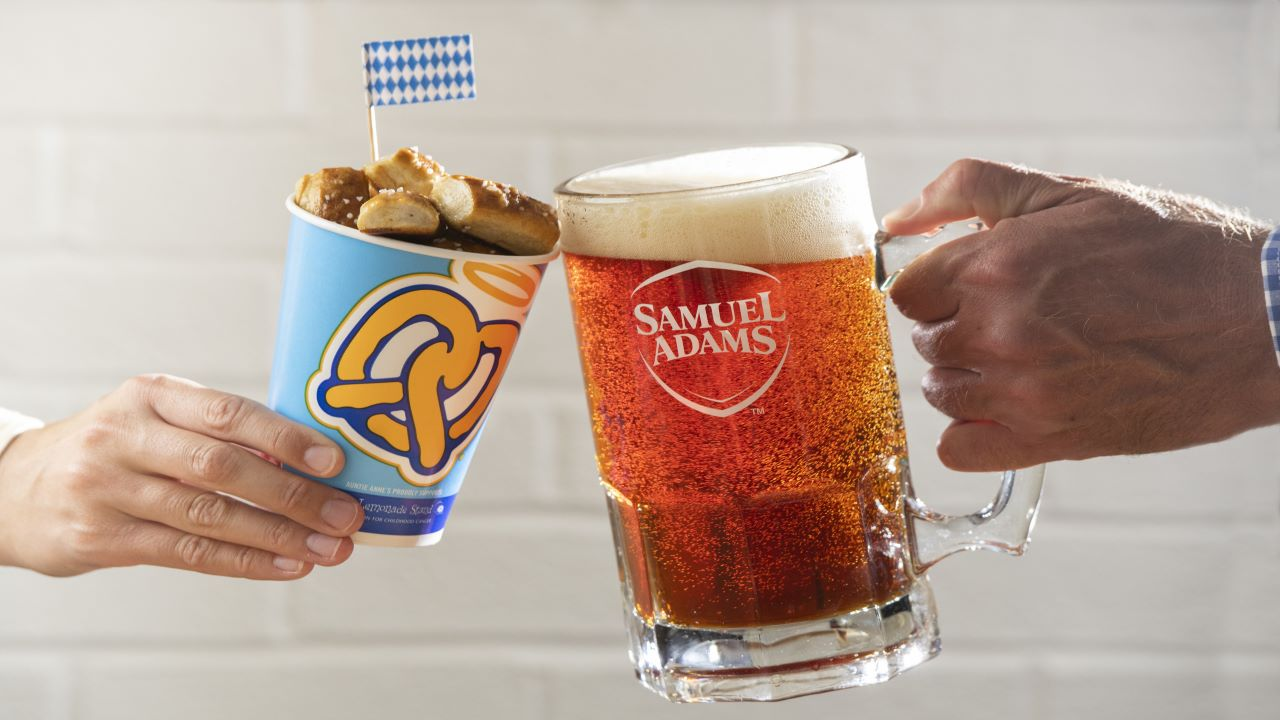 Samuel Adams and Auntie Anne's partnered to introduce the limited-edition Octoberfest At Home Kit. Credit: Samuel Adams.