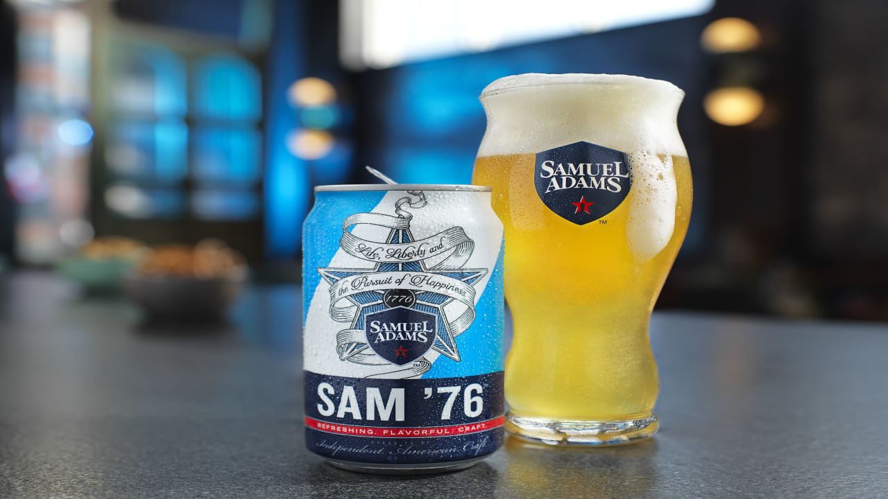 The brewing company crafted Sam'76, a flavourful combination of ale and lager, in January 2018. Credit: Samuel Adams.
