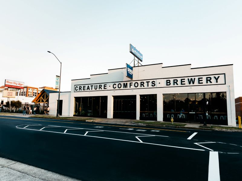Creature Comforts Brewing Company's New Brewery and Taproom