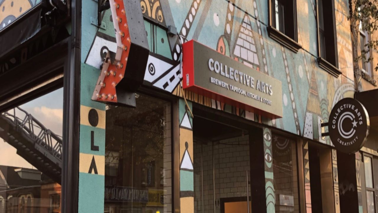 Collective Arts Brewing's new brewery in Toronto will house a taproom, kitchen and cocktail bar. Credit: Collective Arts Brewing Limited.