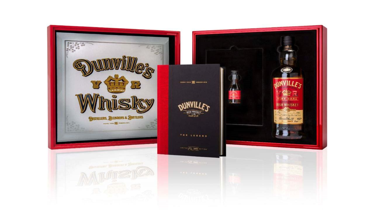 Dunville's VR 18 Year Old Port Mourant Rum Finish Whiskey won three international awards. Credit: The Echlinville Distillery.