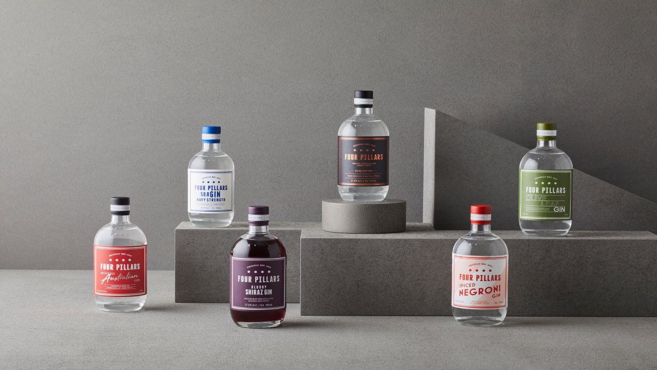 Four Pillars Gin offers a range of gin products. Credit: AustCham Korea.
