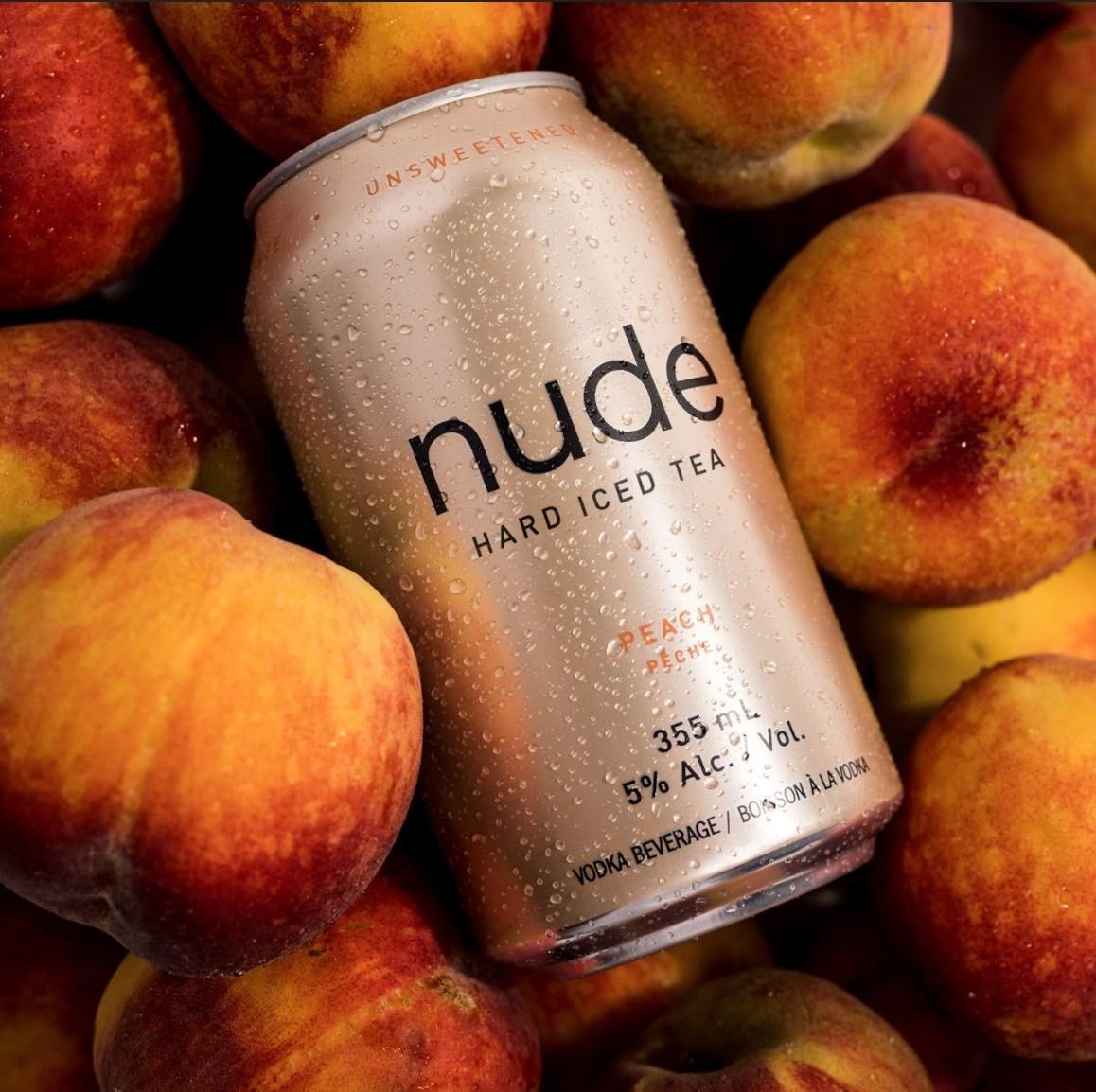 Nude Beverages peach