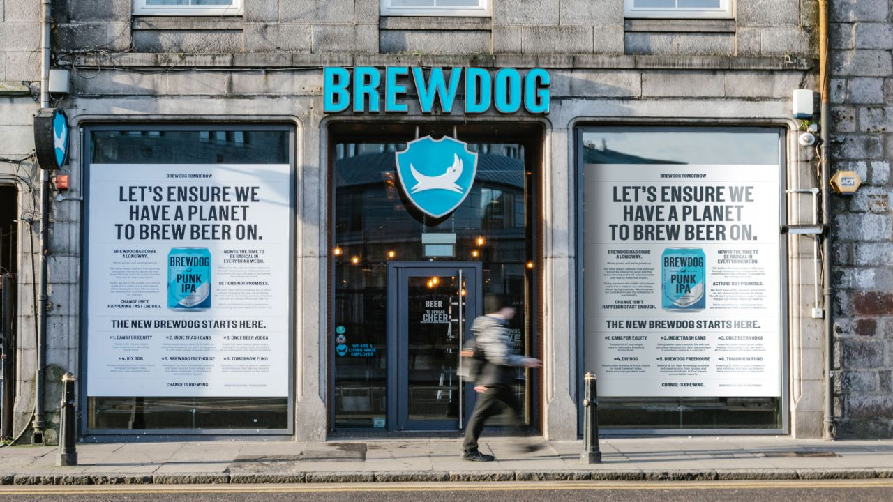 BrewDog planned different sustainability initiatives and new visual identity in February 2020. Credit: BrewDog.