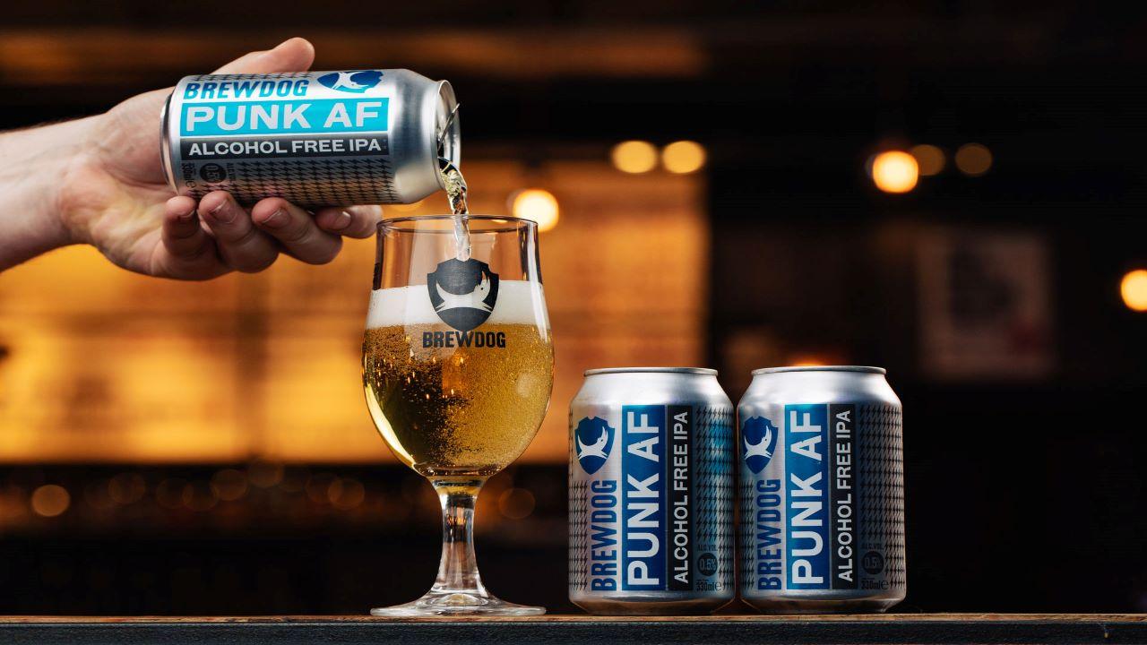 BrewDog introduced Punk AF, an alcohol-free beer in May 2019. Credit: BrewDog.