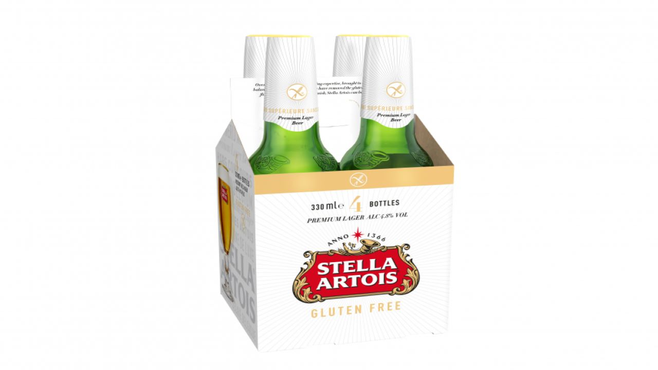 Stella Artois launched its gluten-free variant in July 2018. Credit: AB InBev UK Limited.