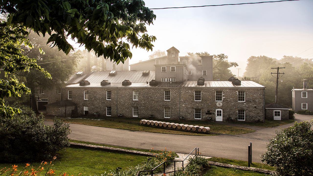 Woodford Reserve Distillery is located at McCracken Pike in Woodford County, Kentucky, US. Credit: Woodford Reserve.